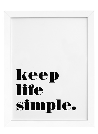 Nordbagen Keep Life Simple Poster Beyaz